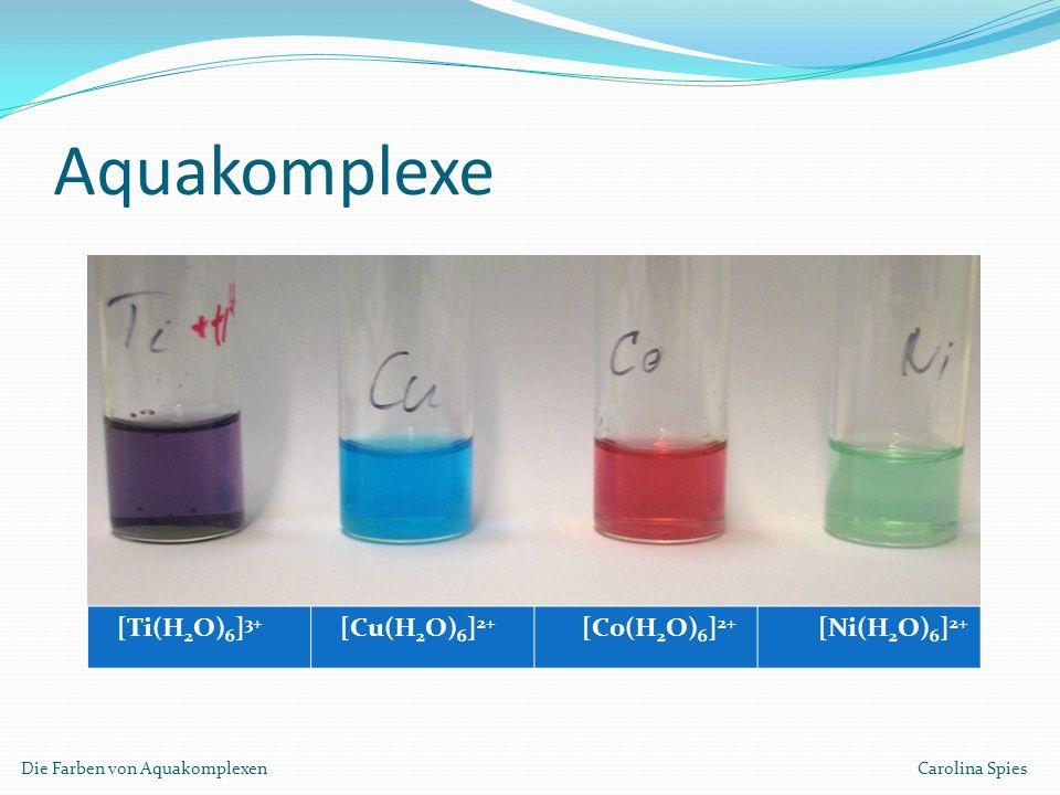 Aquakomplexe [Ti(H2O)6]3+ [Cu(H2O)6]2+ [Co(H2O)6]2+ [Ni(H2O)6]2+
